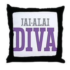 Jai-Alai DIVA Throw Pillow