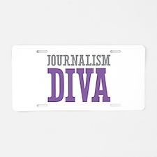 Journalism DIVA Aluminum License Plate