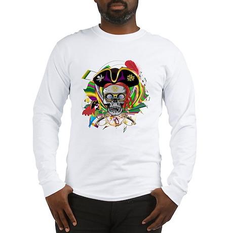 Pirate-Mardi-Gras-V-1 Long Sleeve T-Shirt
