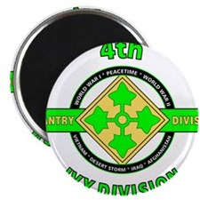 "4TH Infantry Division Ivy 2.25"" Magnet (10 pack)"