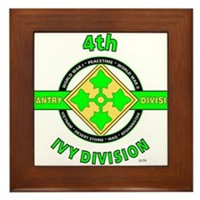 4TH Infantry Division Ivy Framed Tile