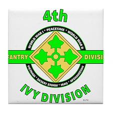 4TH Infantry Division Ivy Tile Coaster
