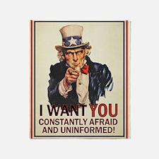 I Want You Afraid Throw Blanket