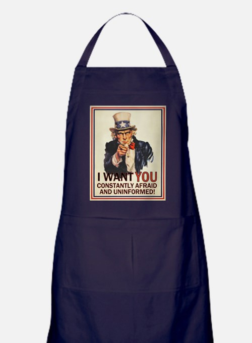 I Want You Afraid Apron (dark)