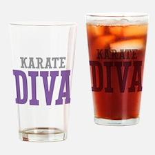 Karate DIVA Drinking Glass