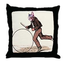 Big Wheel Cat Throw Pillow