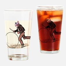 Big Wheel Cat Drinking Glass