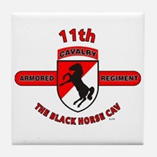 11TH ARMORED CAVALRY REGIMENT Tile Coaster