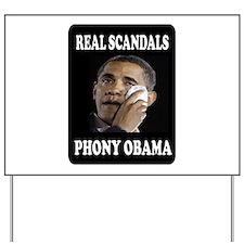 PHONY OBAMA Yard Sign