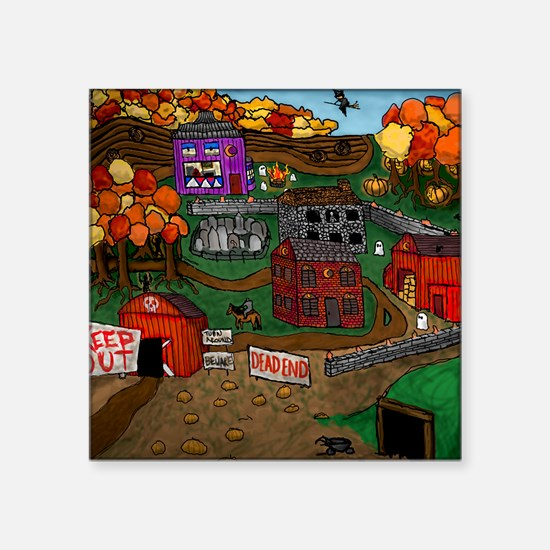"Cute Whimsical halloween Square Sticker 3"" x 3"""