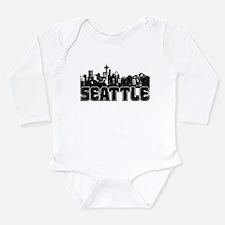Seattle Skyline Long Sleeve Infant Bodysuit