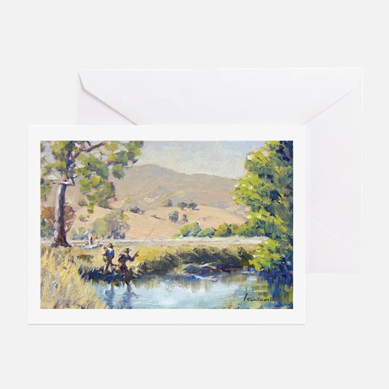 'Hopper' fly fishing. Greeting Cards (Pk of 10