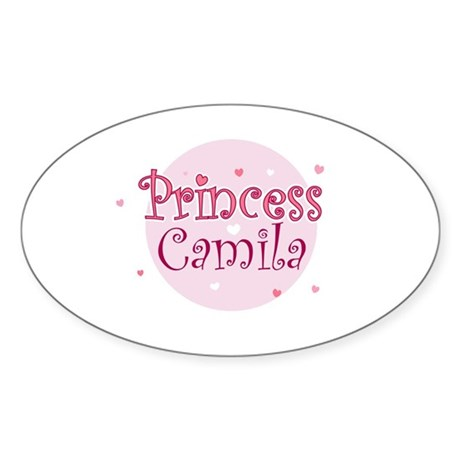 Camila Oval Sticker