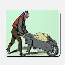 Wheel Barrow Cat Mousepad