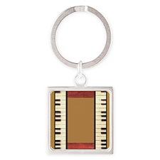 Piano Keys Music Gold Keychains