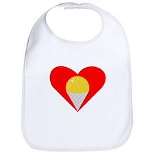 Yellow Snow Cone Heart Bib
