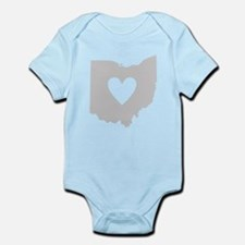 Heart Ohio Infant Bodysuit