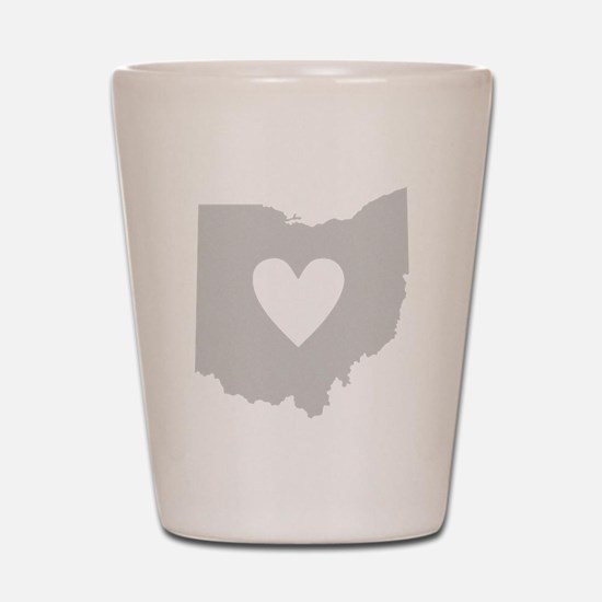 Heart Ohio Shot Glass