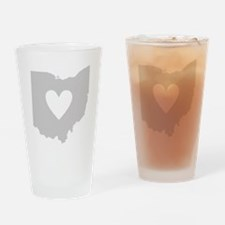 Heart Ohio Drinking Glass