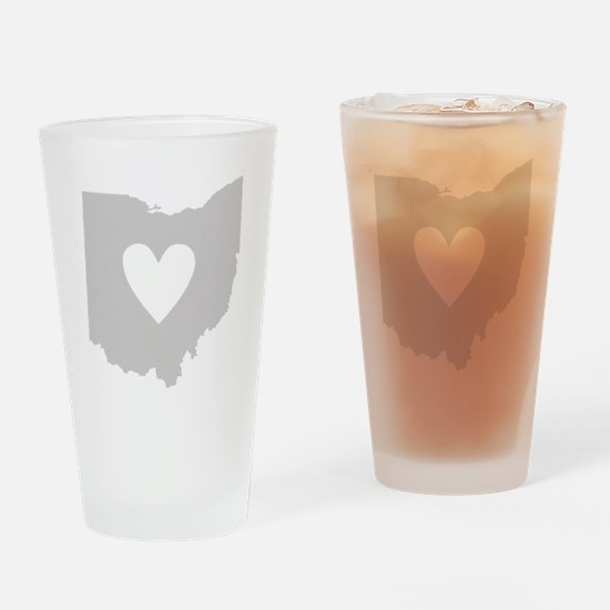 Heart Ohio Drinking Glass