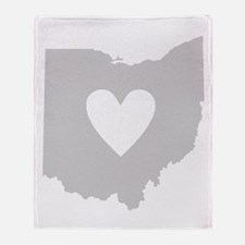 Heart Ohio Throw Blanket