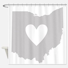 Heart Ohio Shower Curtain