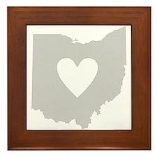 Heart Ohio Framed Tile