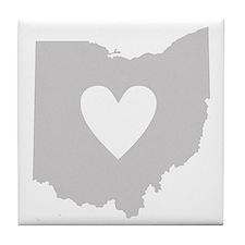 Heart Ohio Tile Coaster