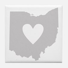 Heart Ohio Tile Coaster