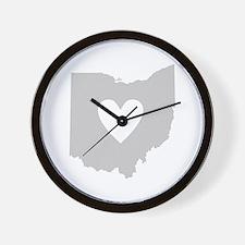 Heart Ohio Wall Clock