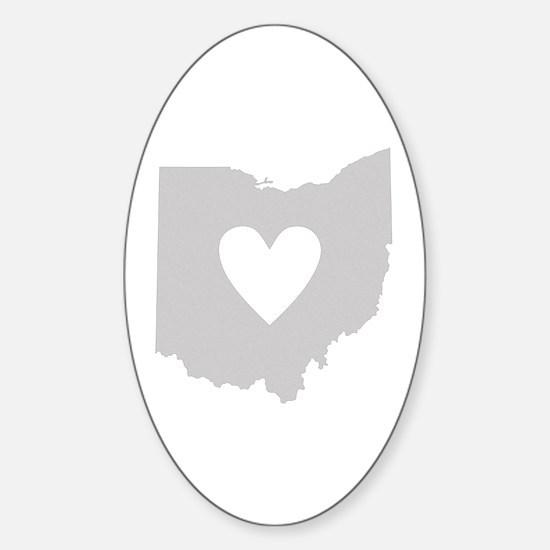 Heart Ohio Sticker (Oval)
