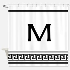 Personalized Art Deco Monogram Shower Curtain