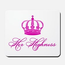Her Highness text design with an old crown Mousepa