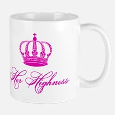 Her Highness text design with an old crown Mug