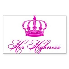 Her Highness text design with an old crown Stickers