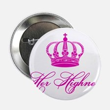 "Her Highness text design with an old crown 2.25"" B"