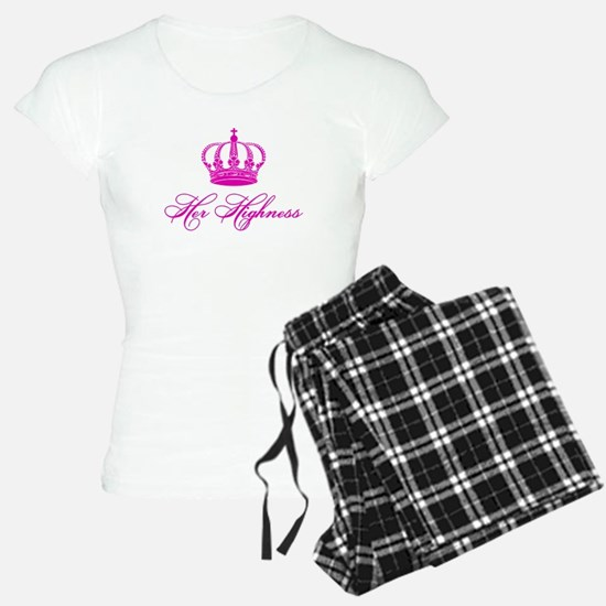 Her Highness text design with an old crown Pajamas