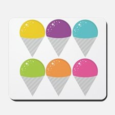 Colorful Snow Cones Mousepad