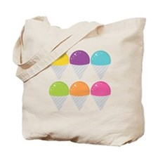 Colorful Snow Cones Tote Bag