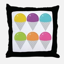 Colorful Snow Cones Throw Pillow