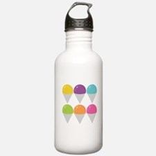 Colorful Snow Cones Sports Water Bottle