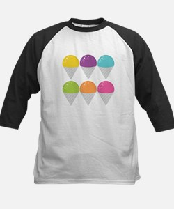 Colorful Snow Cones Baseball Jersey