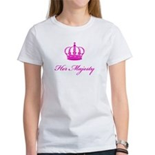 Her Majesty text design with an old crown T-Shirt