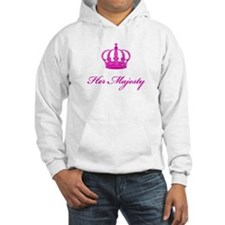 Her Majesty text design with an old crown Hoodie