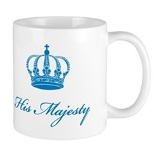 His Majesty text design with an old crown Mug