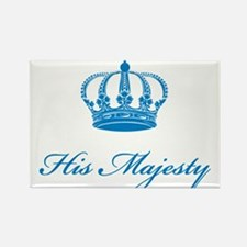 His Majesty text design with an old crown Rectangl