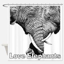 Love Elephants Shower Curtain