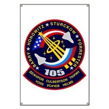 STS-105 Discovery Banner