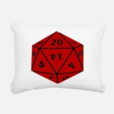 Geeky Dice Rectangular Canvas Pillow