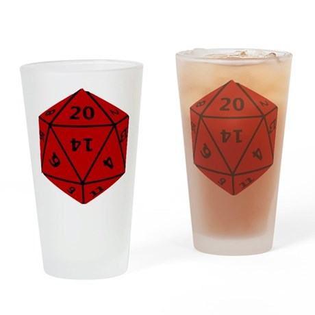 Geeky Dice Drinking Glass